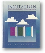 Invitation: Context, culture et communication, 3rd edition by Jarvis, Bonin, and Birckbichler, 1988.