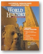 World History, Human Experience, Historical Significance, Chapter Activities, 2005