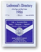 Lockwood's Directory of the Paper and Allied Trades, 110th Ed., 1986