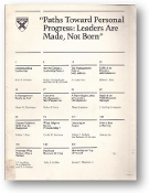 Paths Toward Personal Progress by Harvard Business Review, 1980