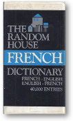 French Pocket Dictionary, The Random House, French-English, French-English, 40,000 entries, 1983