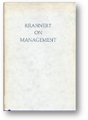 Krannert on Management by Herman C.Krannert, 1974