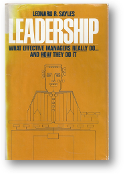 Leadership, what effective managers really do ... and how they do it by Sayles, 1979