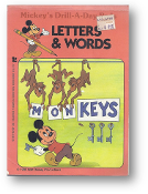 Letters and Words, Mickey's Drill-A-Day Book by Disney, 1985